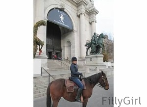 Horse-riding-in-new-york-city-in-front-of-Museum-of-Natural-History